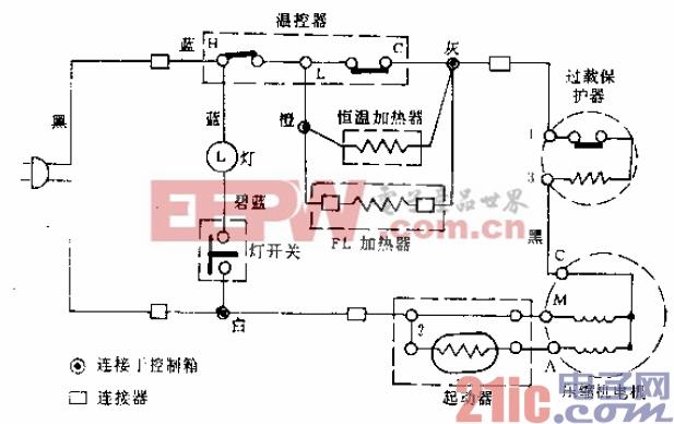 夏普牌BYD-175,SJ-187W,G、C型电冰箱电路.gif