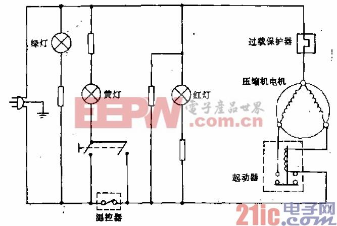 长岭-阿里斯顿牌BD-80型电冰箱电路.gif