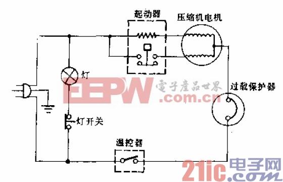 日芝牌BCD-155C型电冰箱电路.gif