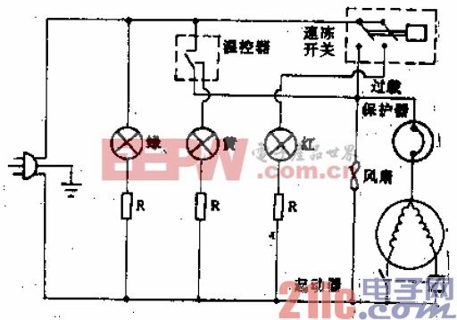 希岛牌BD-130型电冰箱电路.gif