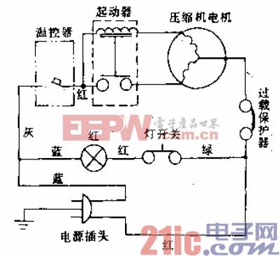 葵花牌BC-100型电冰箱电路.gif