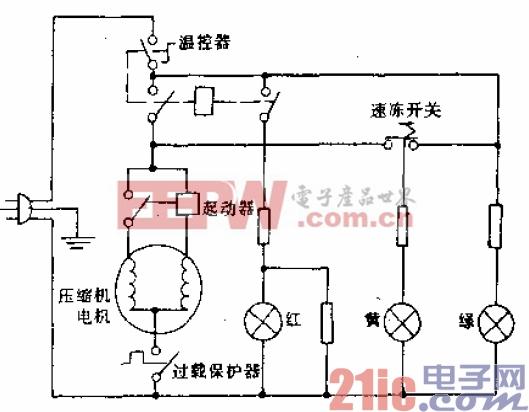 可耐牌BD-130型电冰箱电路.gif