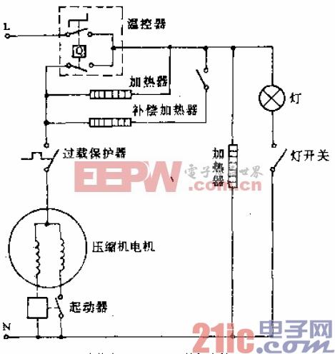 可耐牌BCD-223型电冰箱电路