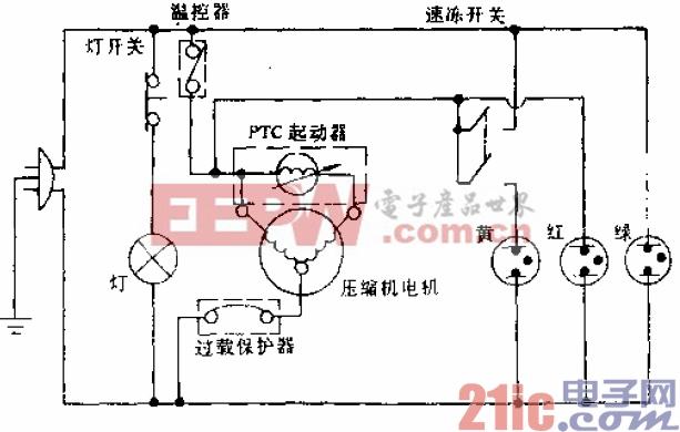 可耐牌BCD-220型电冰箱电路.gif