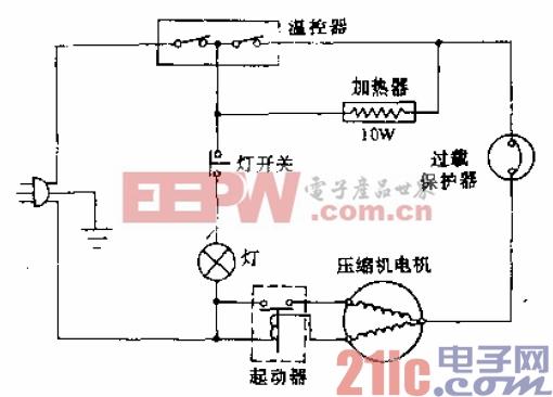 家美乐牌BYD-160B型电冰箱电路.gif
