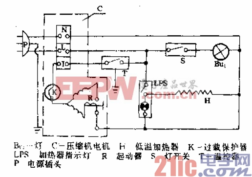 美菱-阿里斯顿牌BCD-181型电冰箱电路.gif