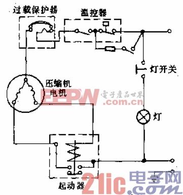 凤凰牌BCD-265型电冰箱电路.gif