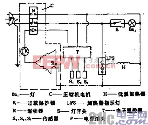美菱-阿里斯顿牌BCD-181A、B型电冰箱电路.gif