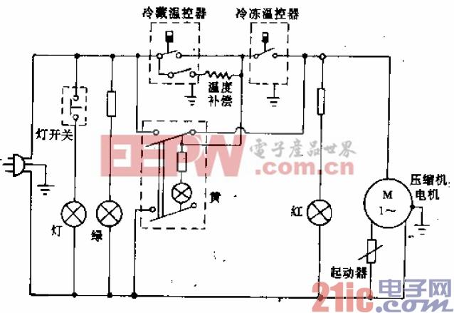 得贝牌BC-BD-240型电冰箱电路.gif