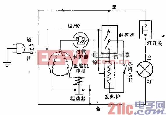 半球牌BCD-180D、BCD-208B型电冰箱电路.gif