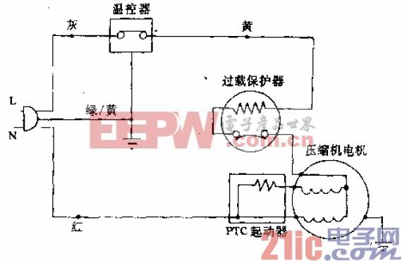 辽河牌BD-152型电冰箱电路.gif