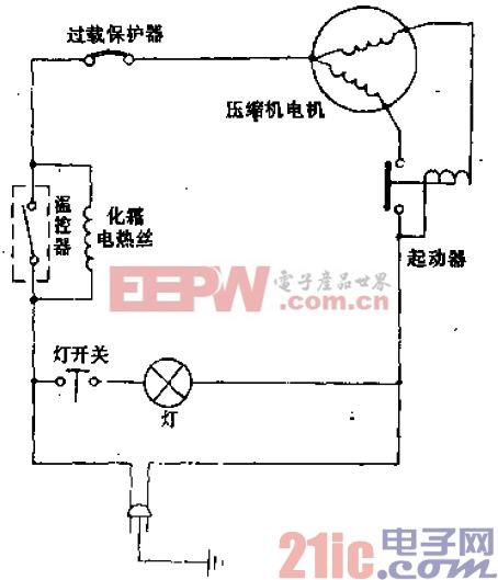 兰花牌BCD-172、BCD-198型电冰箱电路.gif