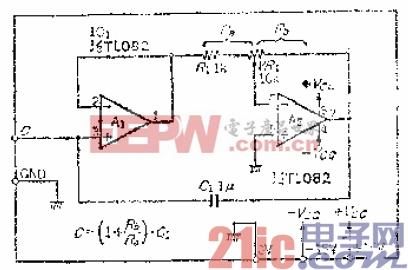 9.用可变电阻改变容量的电容倍增器电路.gif
