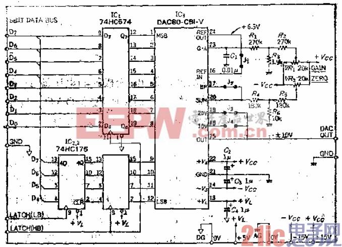 用8位总线控制、应用广泛的12位的通用D-A转换器
