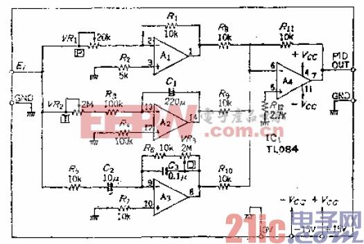 19.用一个四重OP放大器构成的温控PID电路.gif