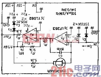 7.把1nA至100uA的电流转换成0.1Hz至10KHz的电流-频率转换电路.gif