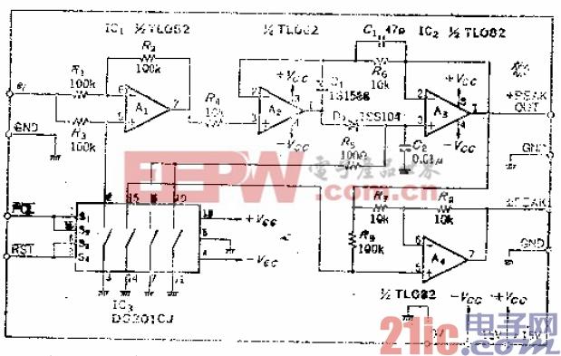 可用逻辑电平选择极性的正、负峰值保持电路