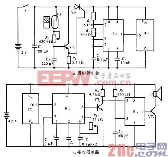 27.车棚无线防盗器电路(一).gif