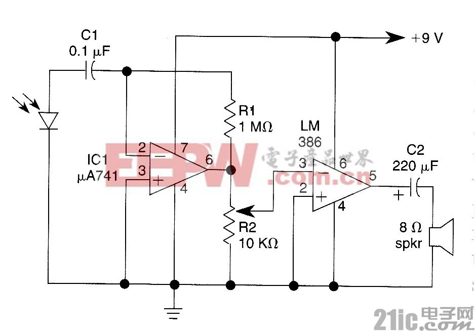 光波语音通信接收器电路图