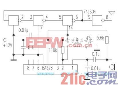 用与非门制作无线话筒电路.jpg