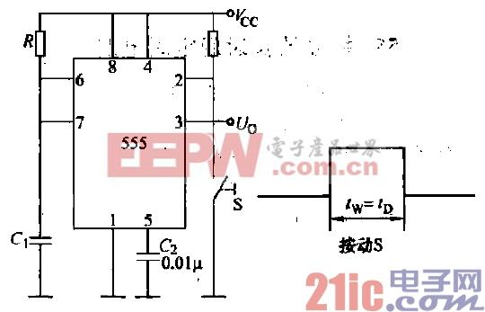 3.555单稳态触发式定时电路.gif