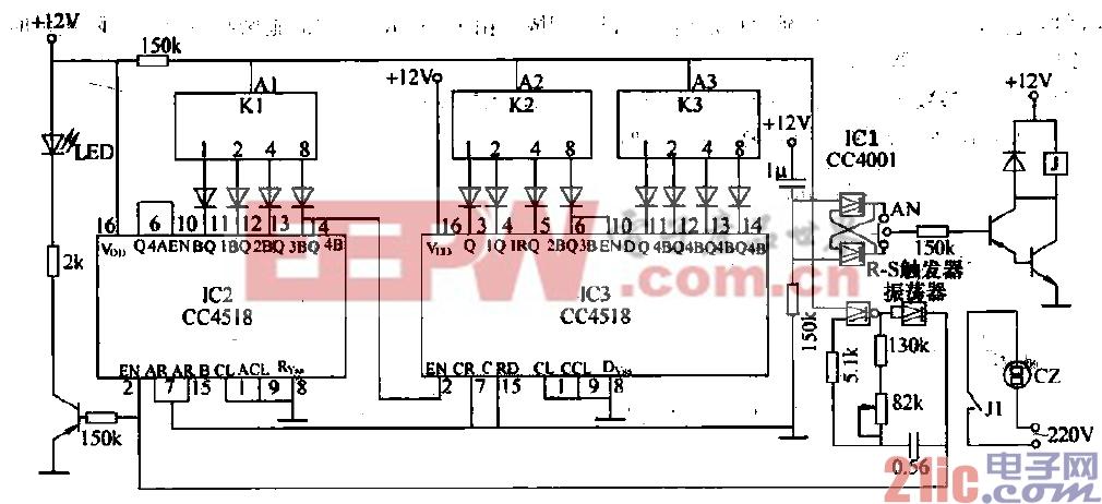18.高可靠通用定时器(CC4518,CC4001)电路.gif