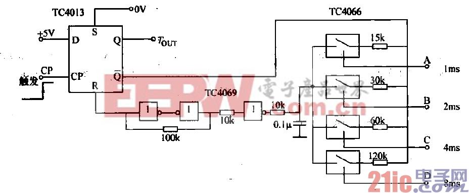 17.由TC4013和模拟开关TC4066构成的可编程定时电路.gif