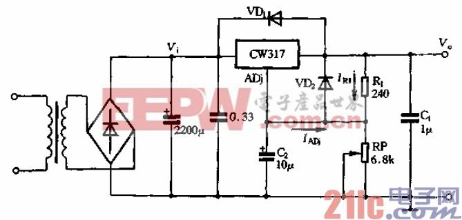 21.可调稳压器W317的应用.gif