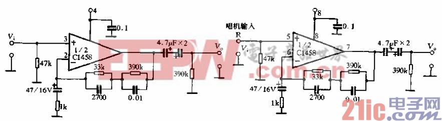 87.唱机均衡输入电路.gif