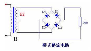 桥式整流电路工作原理和桥式整流电路工作电流流向实物图图片