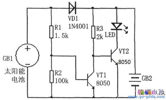 简单的太阳能路灯制作原理及电路图图片