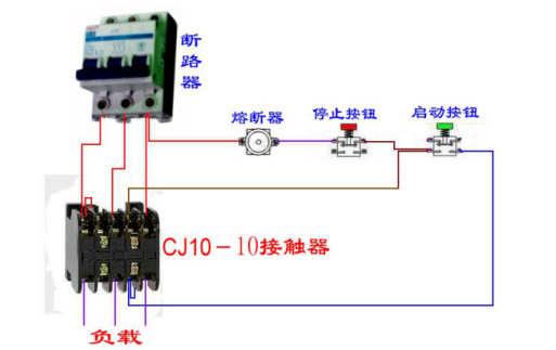 交流接触器实物接线图及常用各种组合电器接线图图片
