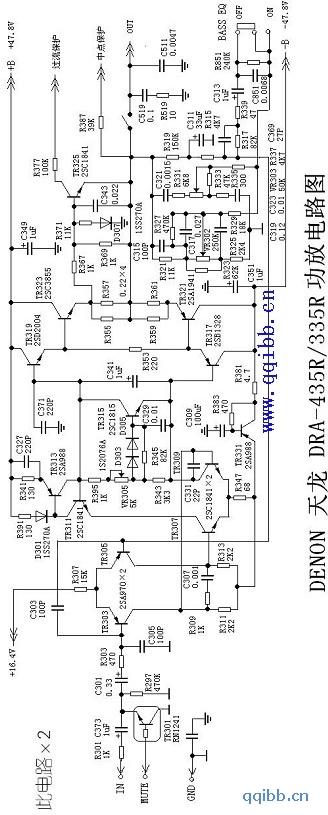 天龙功放DRA-335R后级电路图