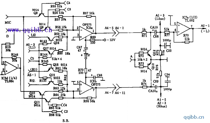 天逸AD-5100放大器工作模式选择电路(三)