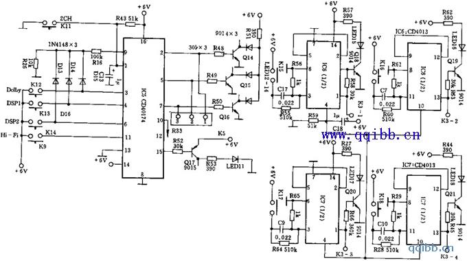 天逸AD-5100放大器工作模式选择电路(二)