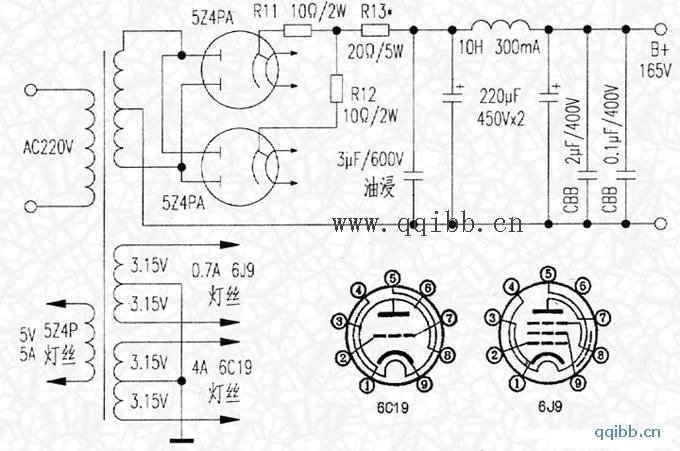 6C19并联单端功率放大器图片