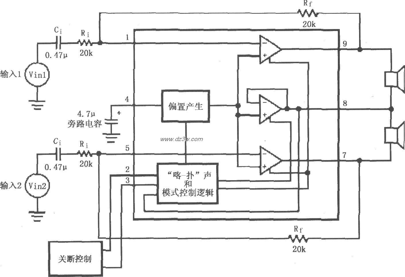 LM4911无输出电容(OCL)功