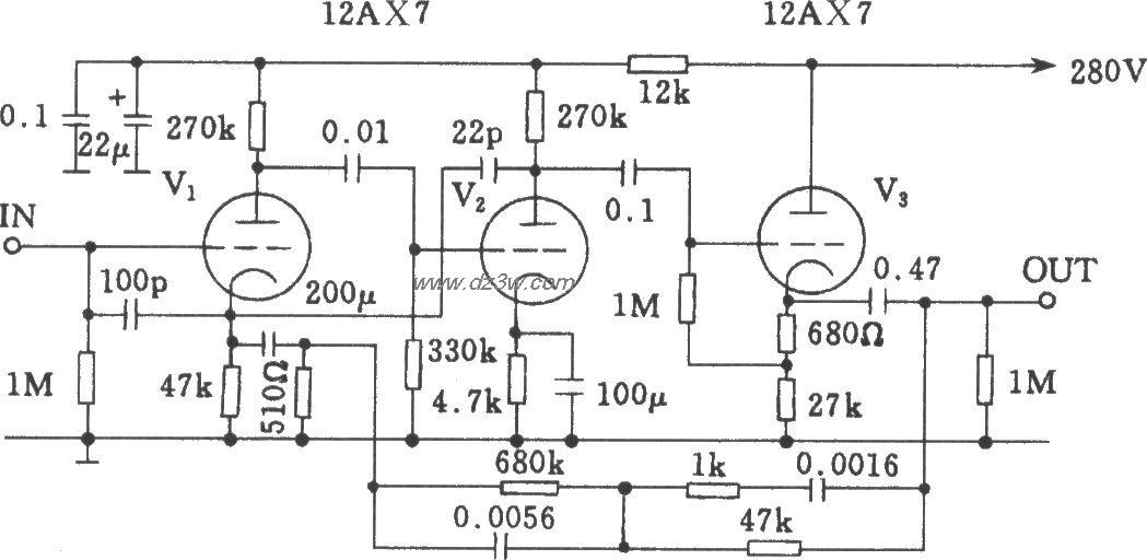 Mamn-7电子管前级均衡放