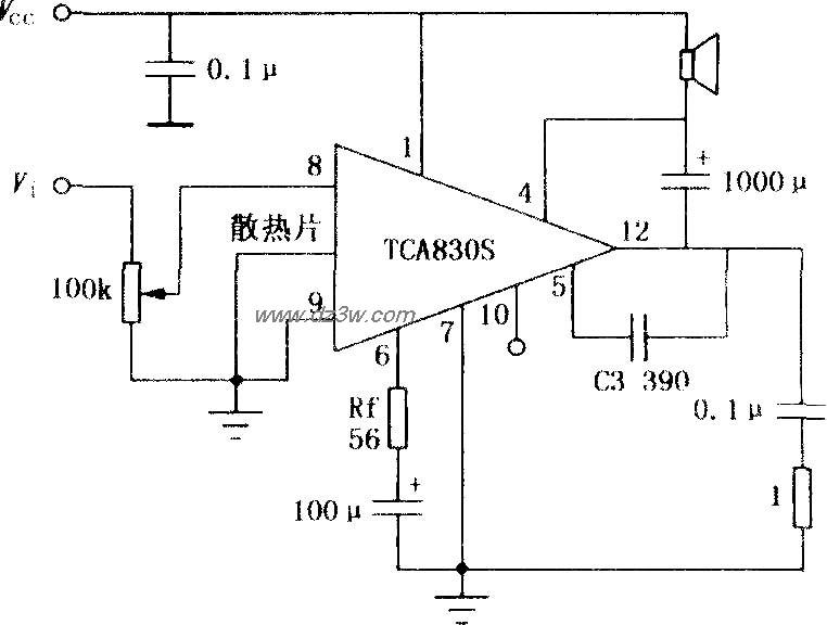 TCA830S 4.2W音频功率放