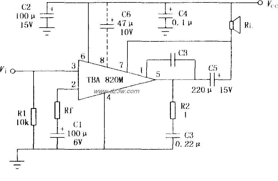 TBA820M 2W音频功率放大
