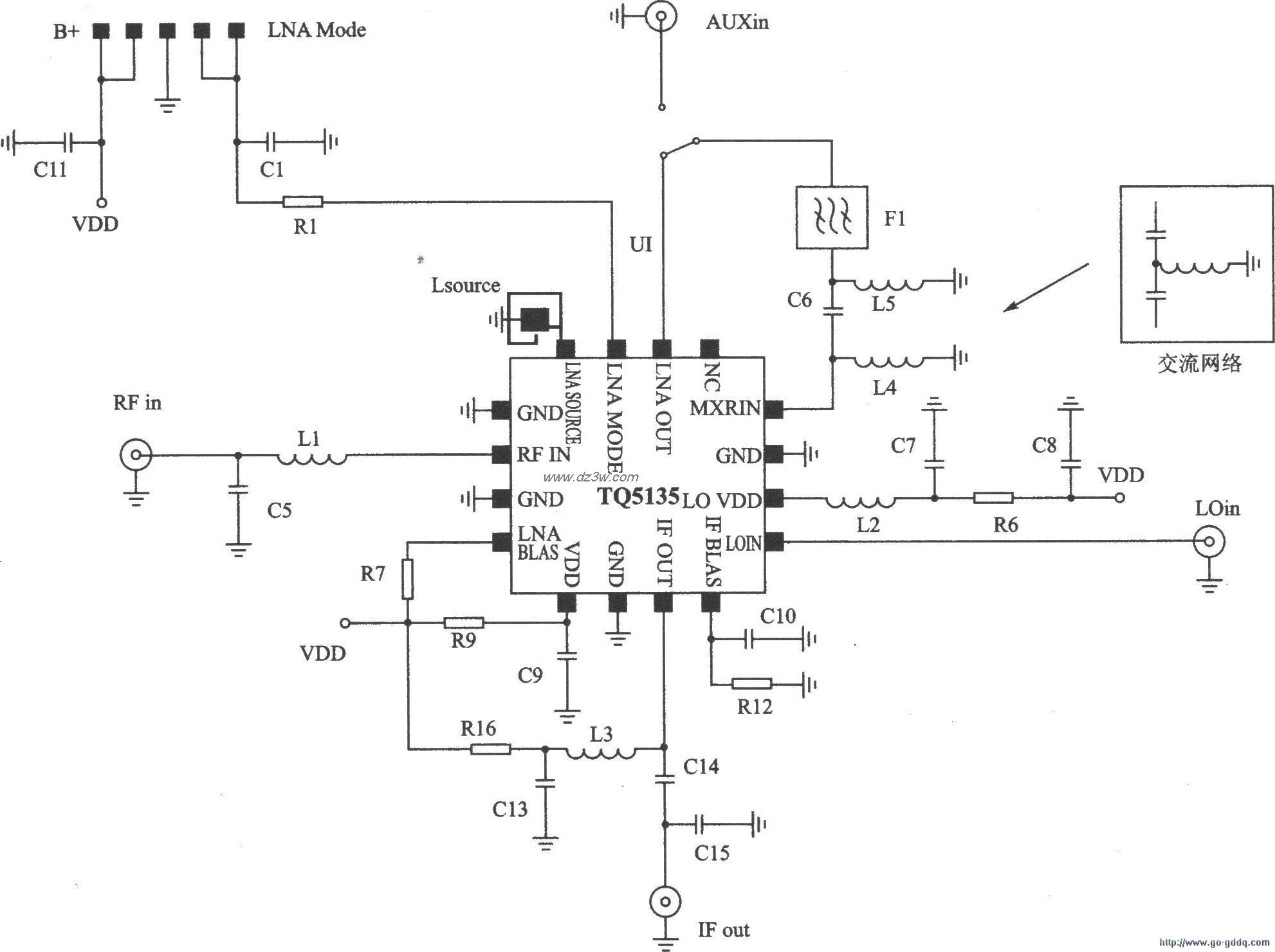 CDMA/AMPS接收器TQ5135应
