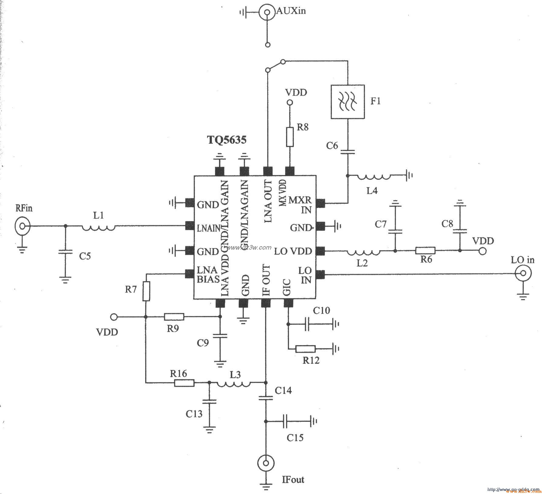 CDMA PCS频段接收器TQ56