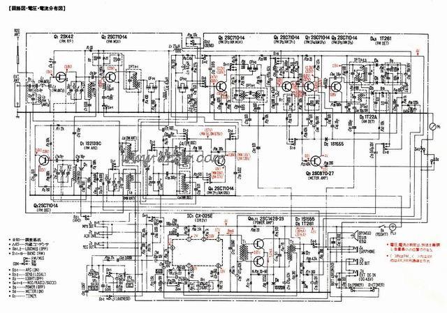 SONY ICF-5500收音机线路