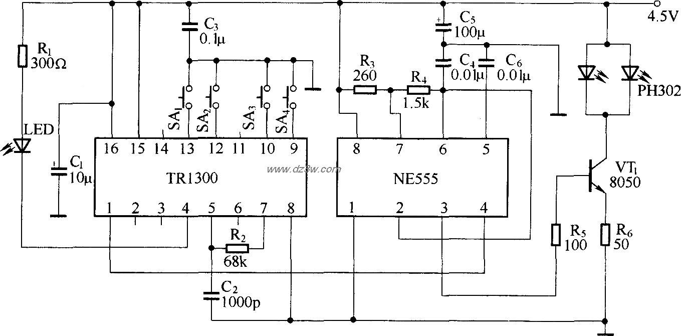 红外线遥控电路(TR1300/