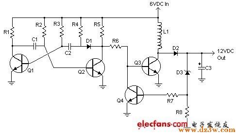 分立器件组成的简单6V转