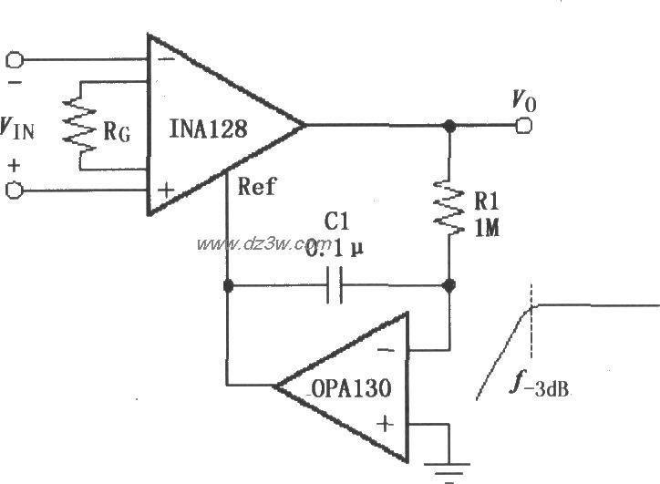 由INA128构成的交流耦合