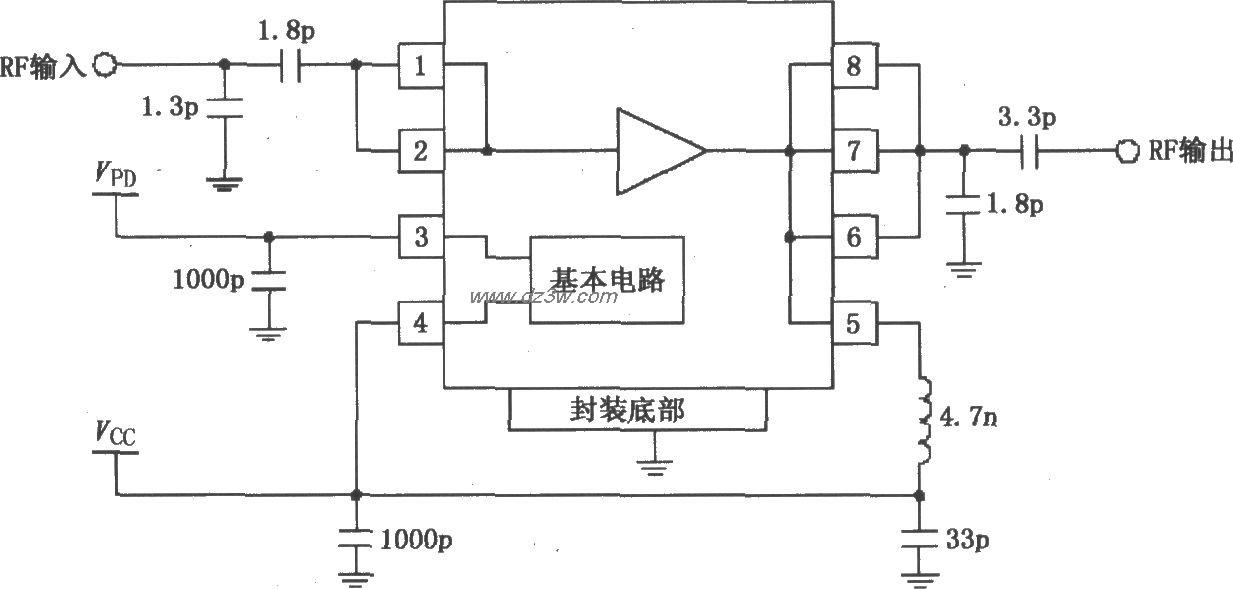 由RF2126构成的2450MHz末