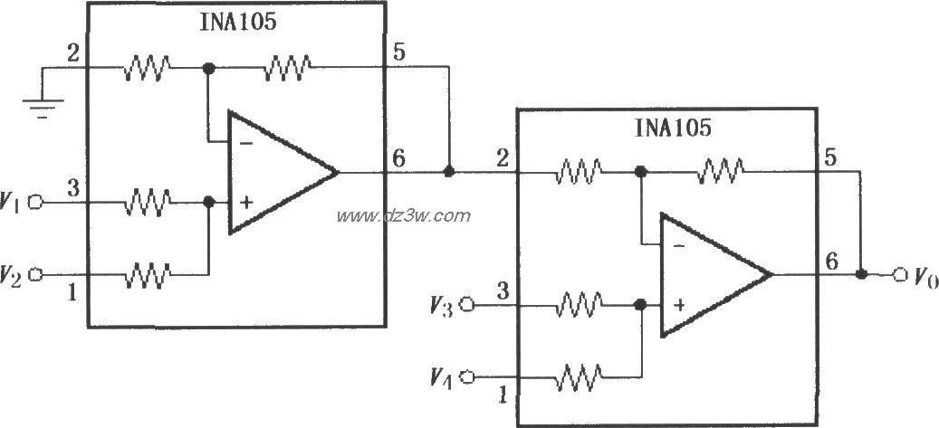 精密加法仪表放大器(INA