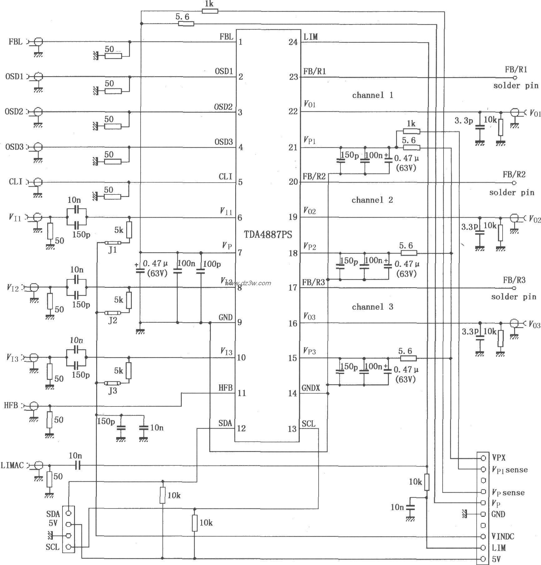 TDA4887PS利用内部正反馈