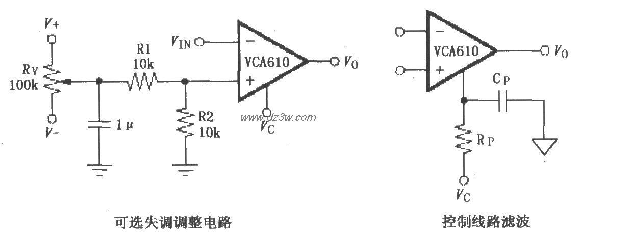 可选失调电压调整和控制